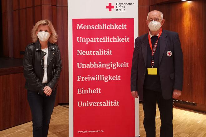 Foto zeigt Daniela Ludwig und Karl-Heinrich Zeuner