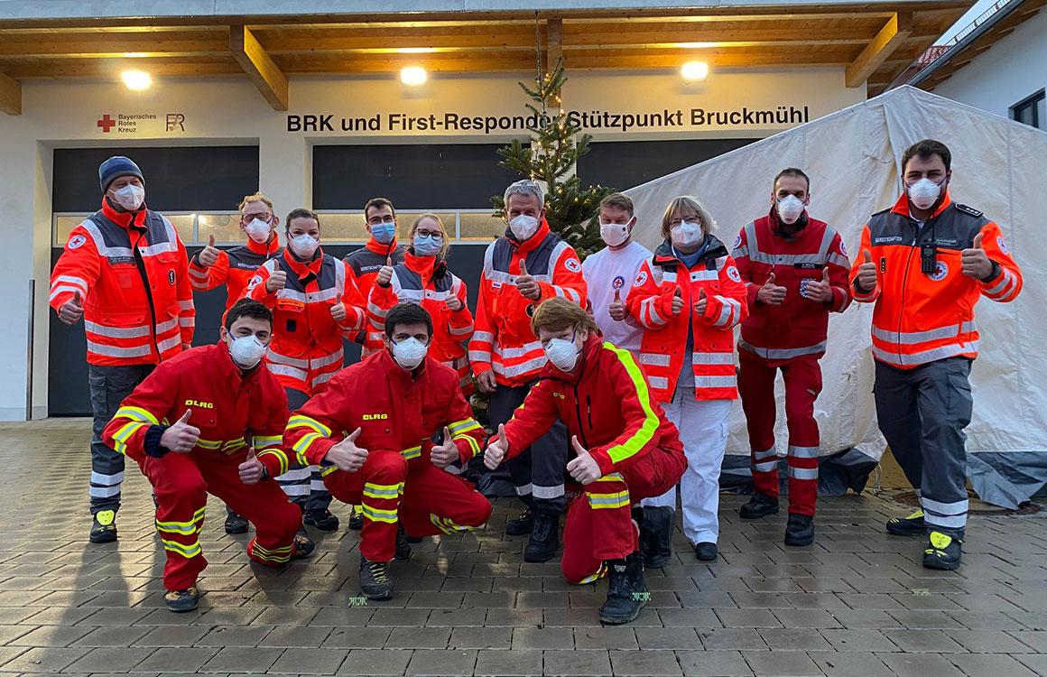 Weihnachts-Coronatestung in Bruckmühl