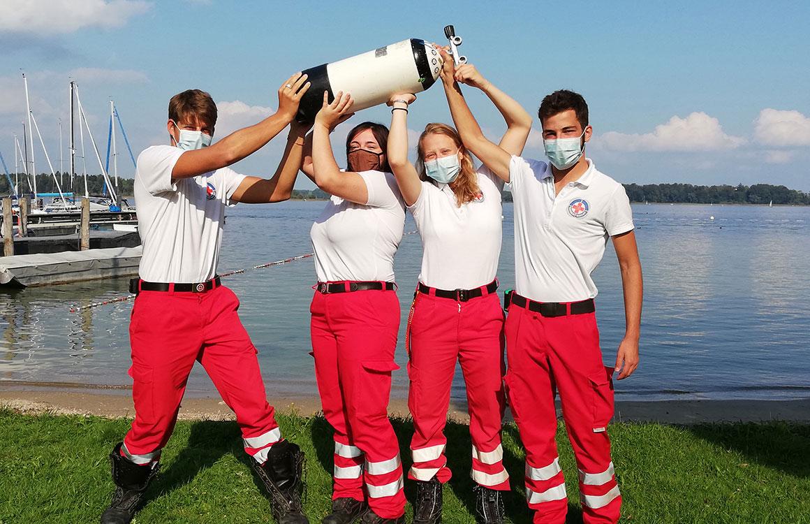 Neue Rettungstaucher für die Wasserwacht