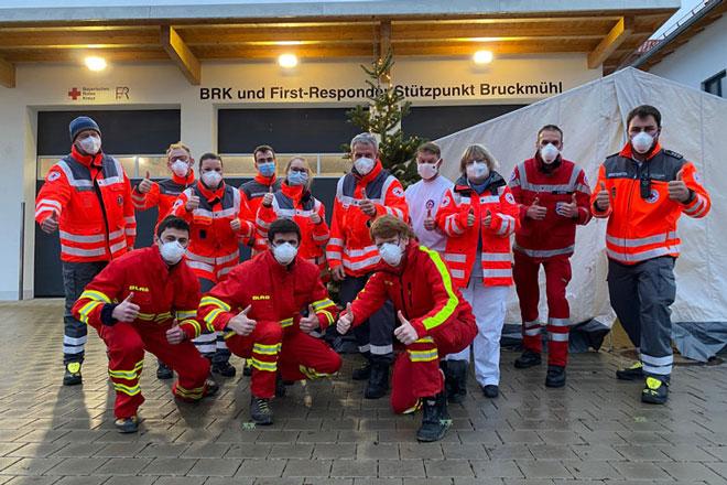 Bereitschaft Bruckmühl bei Weihnachtstestung