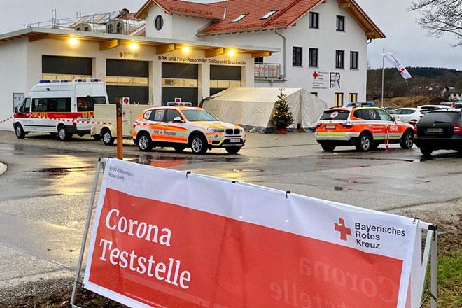 Weihnachtsteststation in Bruckmühl
