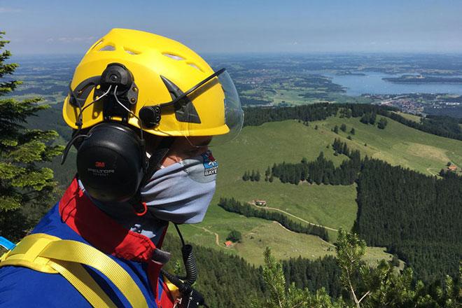 Bergwachteinsatz mit Maske