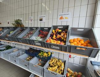 Sortierte Lebensmittel in der Raublinger Tafel