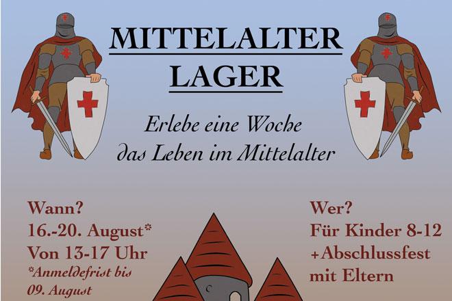 Bild zeigt Teil des offiziellen Plakats für das Mittelalterlager